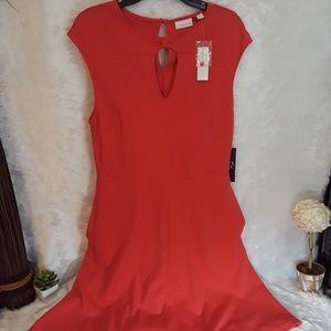 NEW YORK & COMPANY dark coral sleeveless dress
